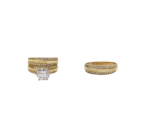 Three-Piece Set Engagement Rings (14K)