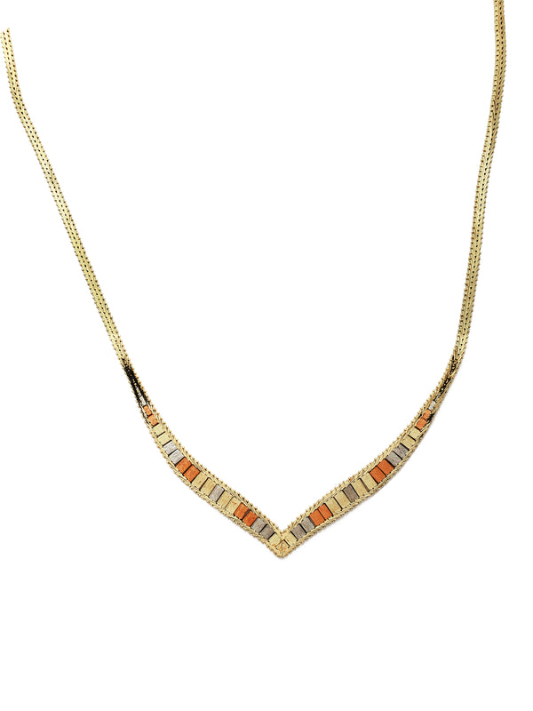 Tricolor Xylophone Fancy Necklace (14K)