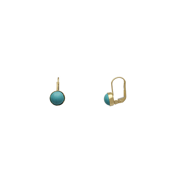 Turquoise Earrings (14K)