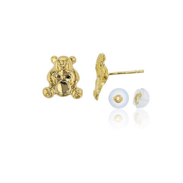 Teddy Bear Stud Earrings (14K) Popular Jewelry New York