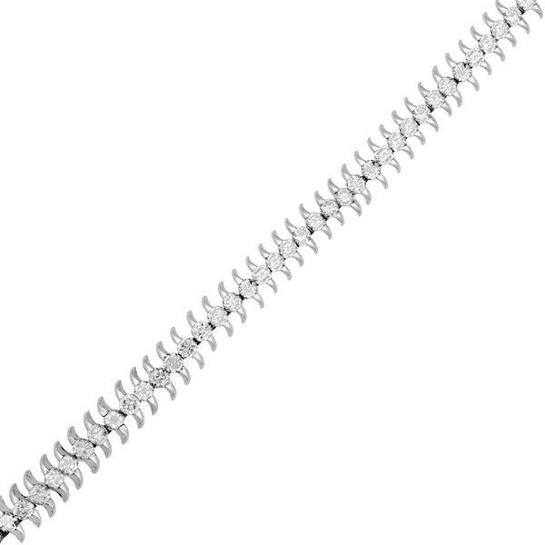 Pendente di Braccialetto Tennis Centipede (Silver) Popular Jewelry New York