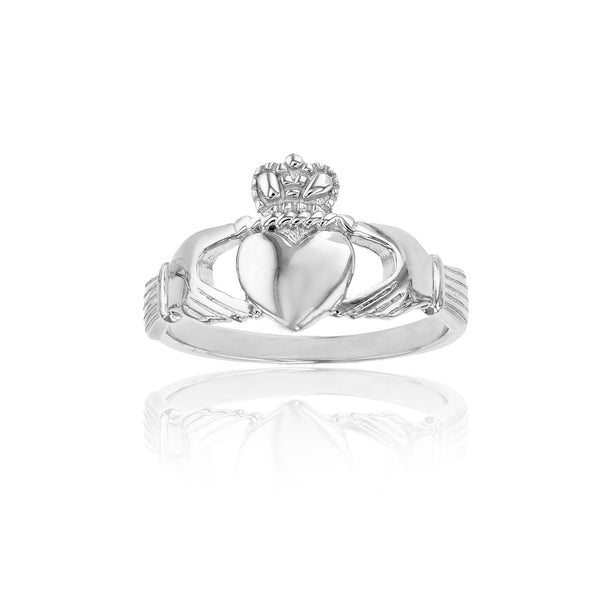 Textured Claddagh Ring (Silver) Popular Jewelry New York