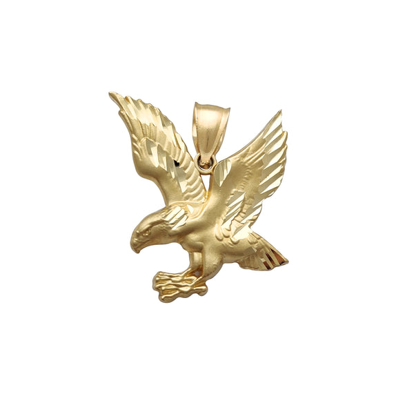 Textured Flying Eagle Matte Finish Pendant (14K) Popular Jewelry New York