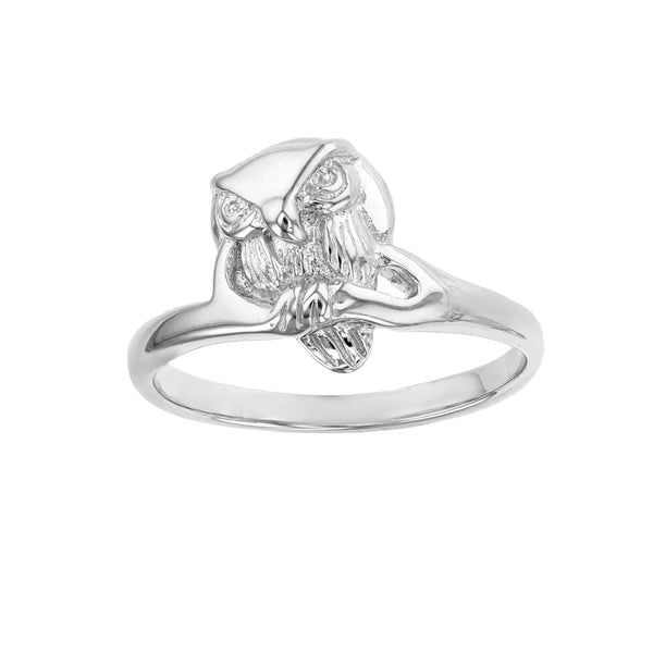 Textured Owl Ring (Silver) Popular Jewelry New York
