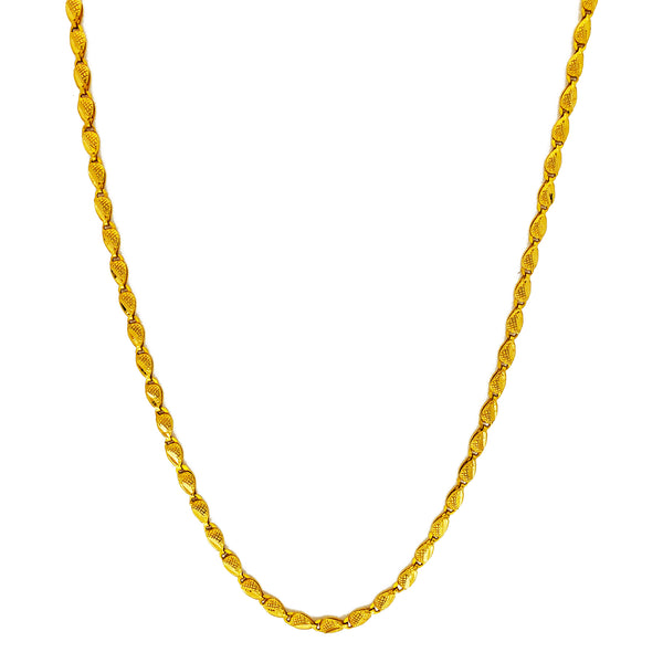 Colar folha texturizada (24K) Popular Jewelry New York