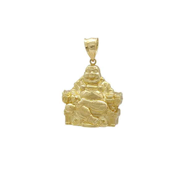 Tron Laughing Buddha Ornaments Lucky Pendant (14K) 14 Karat Gold Jòn, Popular Jewelry New York