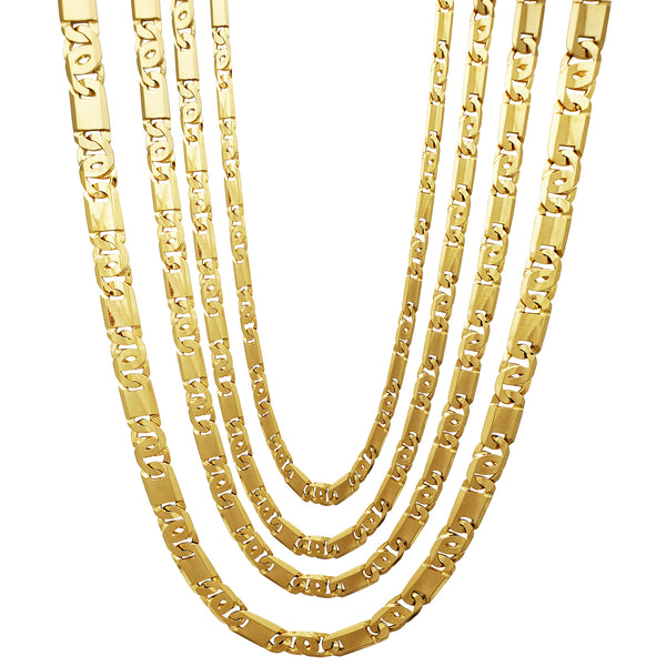 Tiger-Eye Link Chain (14K) Popular Jewelry New York