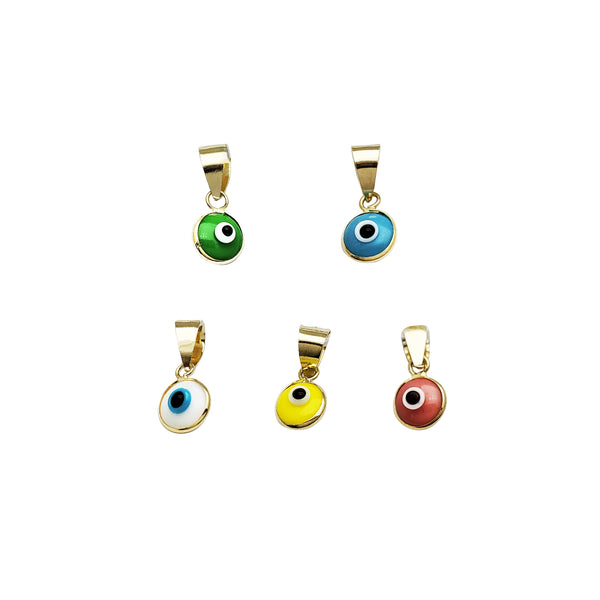 Tiny Evil Eye Pendant (14K)