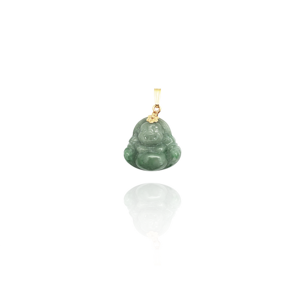 Tiny Jade Buddha Pendant (14K) New York Popular Jewelry