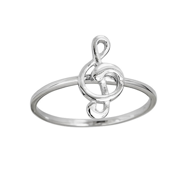 Treble Clef Music Notes Ring (Silver) Popular Jewelry New York