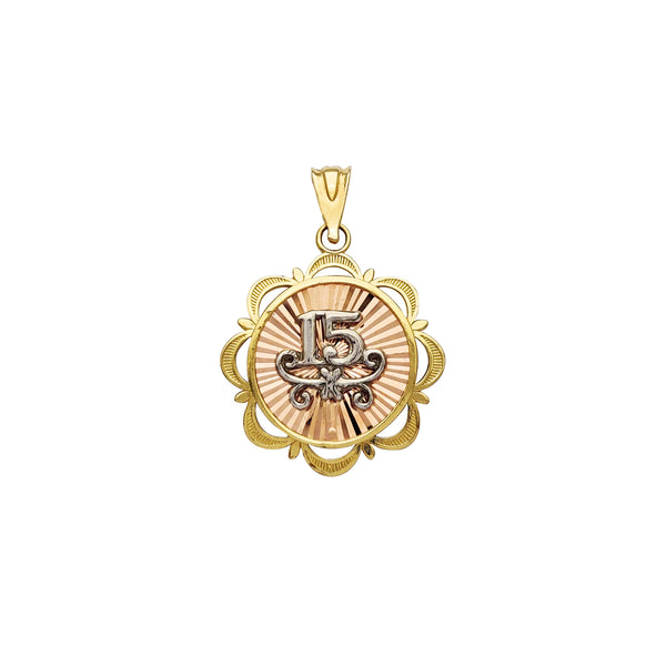 Tri-Color 15 Years Pendant (14K) Popular Jewelry New York
