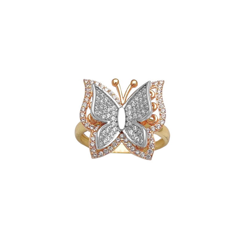 Tricolor Butterfly Ring (14K) Popular Jewelry New York