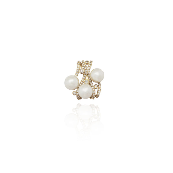 Pandantiv Triplets Pearl CZ (14K) New York Popular Jewelry