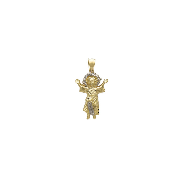 Two-Tone Baby Jesus Open Arms Pendant (14K) Popular Jewelry New York