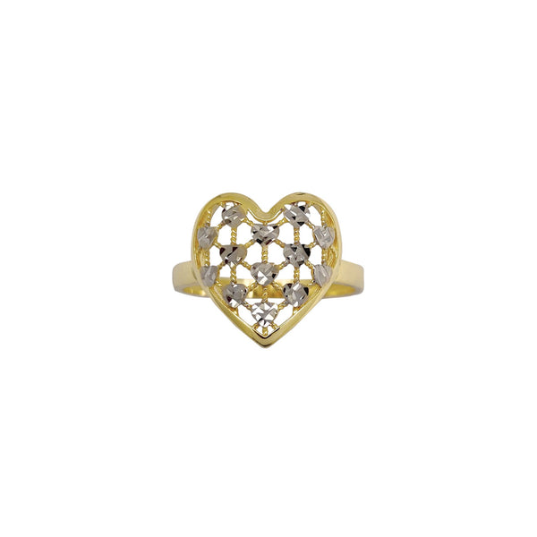 Two-Tone Heart Ring (14K) Popular Jewelry New York
