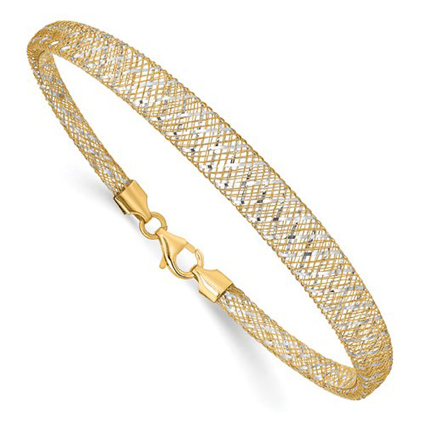 Two-Tone Mesh Bracelet (14K) Popular Jewelry New York