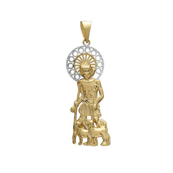Two-Tone Saint Lazarus Pendant (14K) Popular Jewelry New York