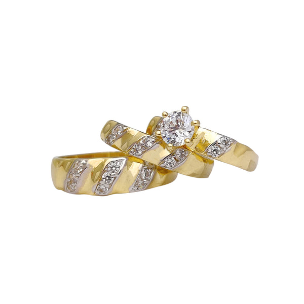 Two-Tone Three-Piece-Set Ring (10K) Popular Jewelry New York
