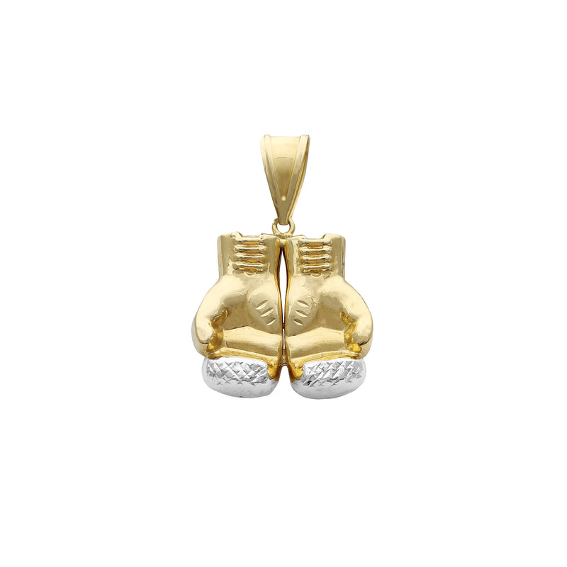 Two-Tone Gold Boxing Gloves Pendant (14K) Popular Jewelry New York