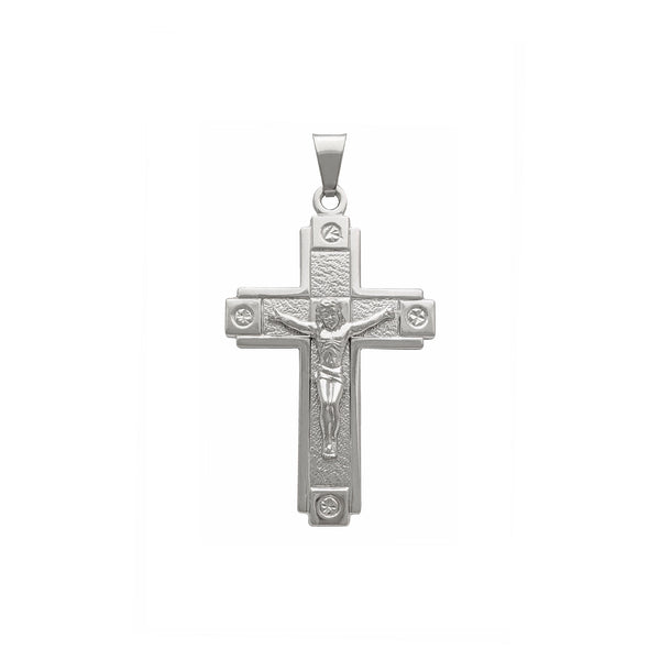 Crucifix Pendant (14K) front - Popular Jewelry - New York