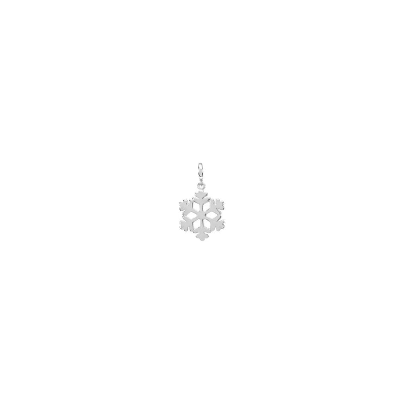 Mini Snowflake Charm white (14K) front - Popular Jewelry - New York