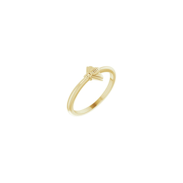 Bee Stackable Ring yellow (14K) diagonal - Popular Jewelry - New York
