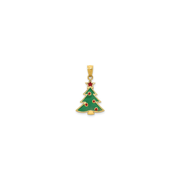 Christmas Tree Charm (14K) front - Popular Jewelry - New York