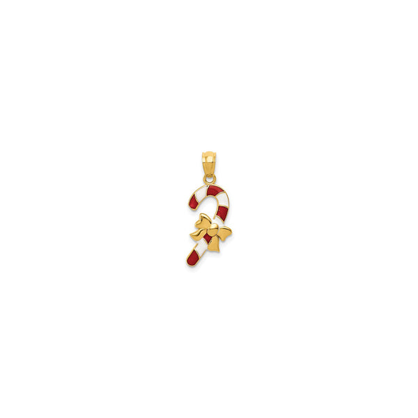 Colorful Candy Cane Pendant (14K) front - Popular Jewelry - New York