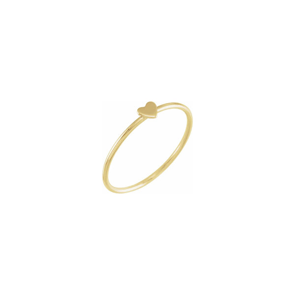 Heart Stackable Ring (14K) diagonal - Popular Jewelry - New York