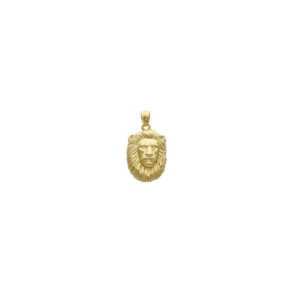 Lion Visage Pendant (14K) front - Popular Jewelry - New York