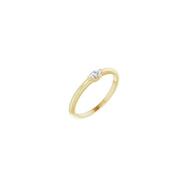 Marquise Diamond Stackable Solitaire Ring yellow (14K) diagonal - Popular Jewelry - New York