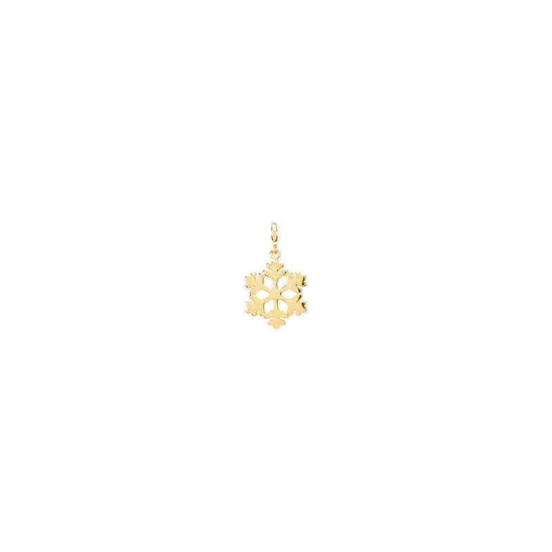 Mini Snowflake Charm yellow (14K) front - Popular Jewelry - New York