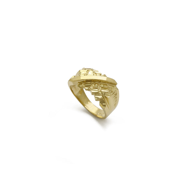 Nugget Fissure Ring (14K) diagonal - Popular Jewelry - New York