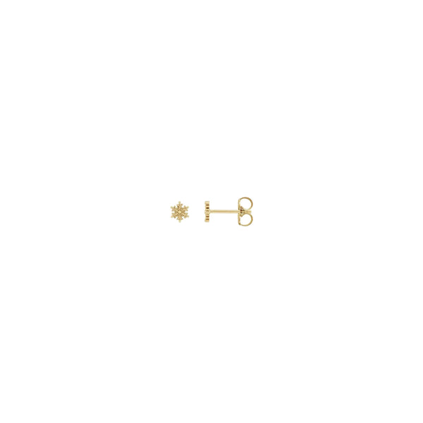 Petite Snowflake Stud Earrings yellow (14K) main - Popular Jewelry - New York