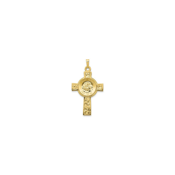 Saint Anthony Cross Pendant (14K) front - Popular Jewelry - New York