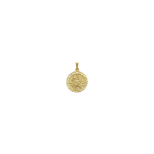 Saint Christopher Diamant-Cut Round Medaillon Pendant (14K) vir - Popular Jewelry - New York
