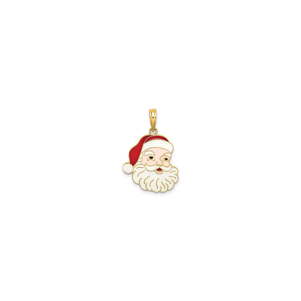 Santa Claus Face Pendant (14K) front - Popular Jewelry - New York