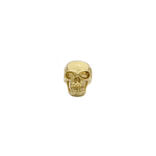 Skull Ring (14K) front - Popular Jewelry - New York