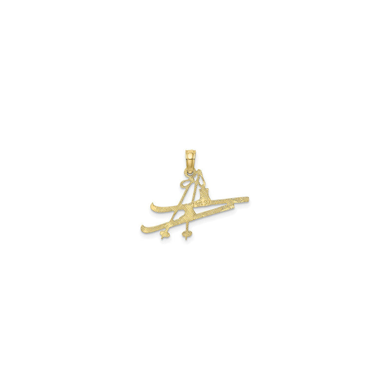Snow Ski Equipment Pendant (14K) back - Popular Jewelry - New York