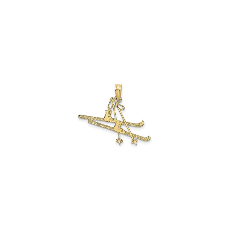 Snow Ski Equipment Pendant (14K) front - Popular Jewelry - New York