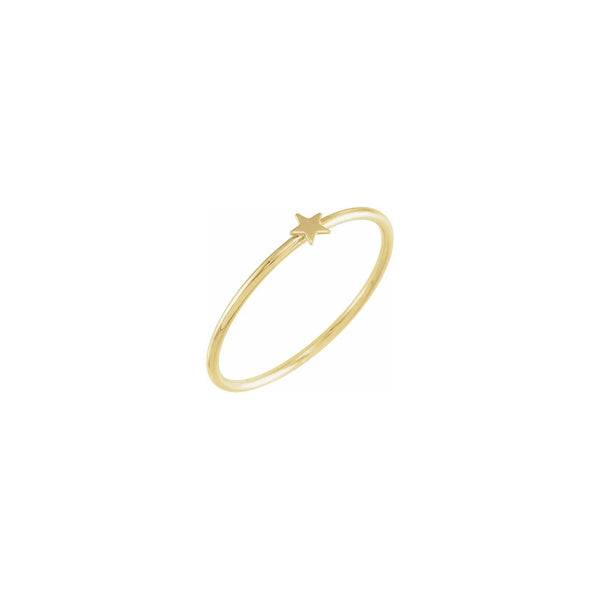 Star Stackable Ring (14K) diagonal - Popular Jewelry - New York