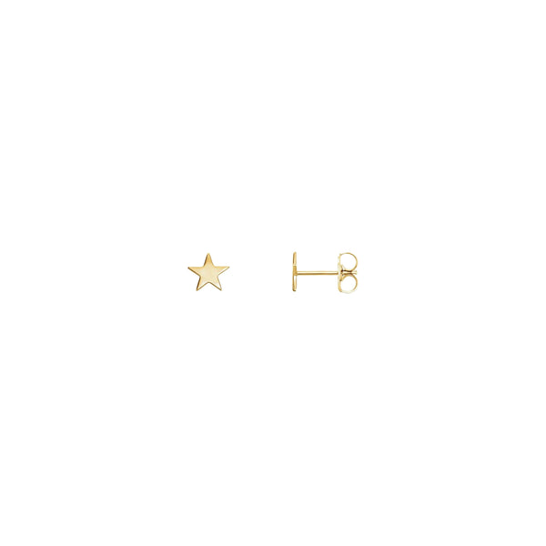 Star Stud Earrings yellow (14K) main - Popular Jewelry - New York