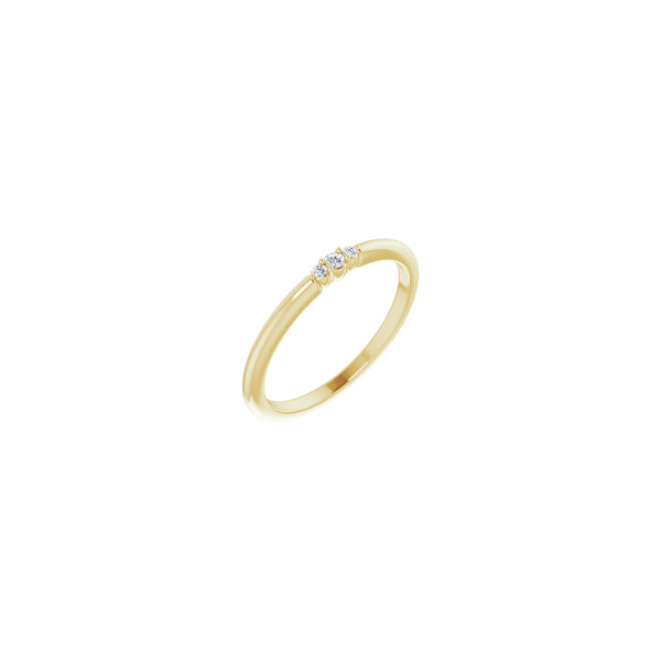 Triple Diamond Stackable Ring yellow (14K) diagonal - Popular Jewelry - New York