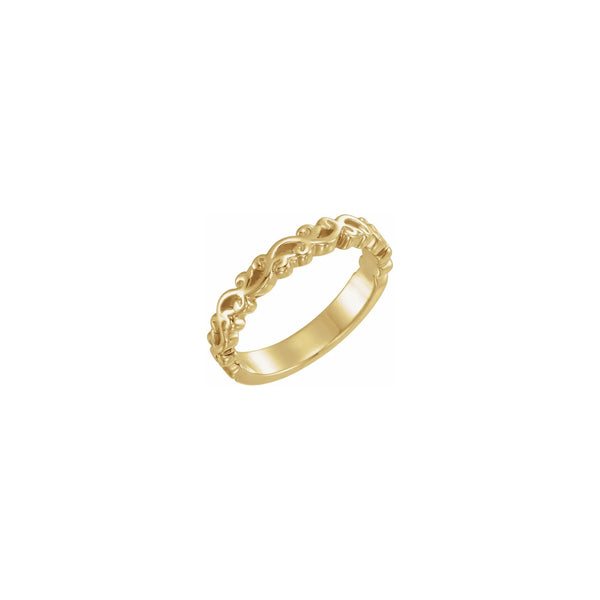Wavy Stackable Ring (14K) diagonal - Popular Jewelry - New York