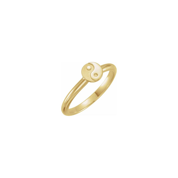 Yin Yang Stackable Ring yellow (14K) diagonal - Popular Jewelry - New York
