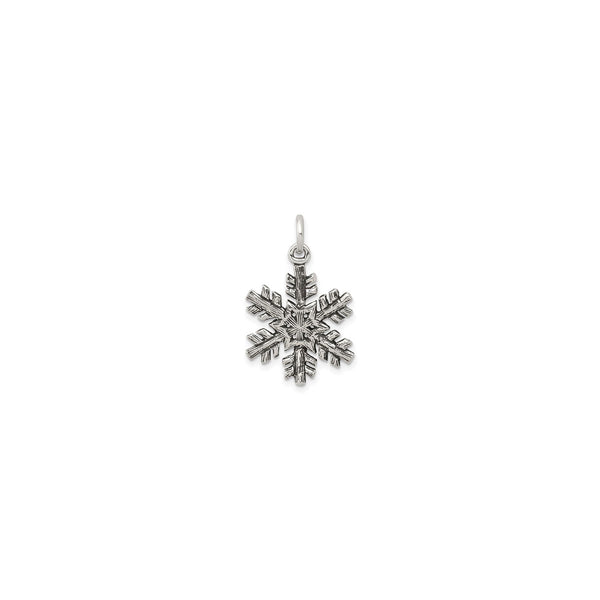 Antique-Finish Snowflake Pendant (Silver) front - Popular Jewelry - New York
