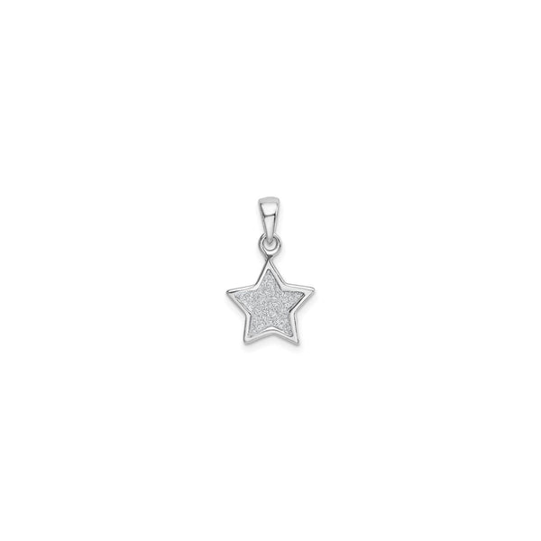 Framed Glittery Star Pendant (Silver) front - Popular Jewelry - New York