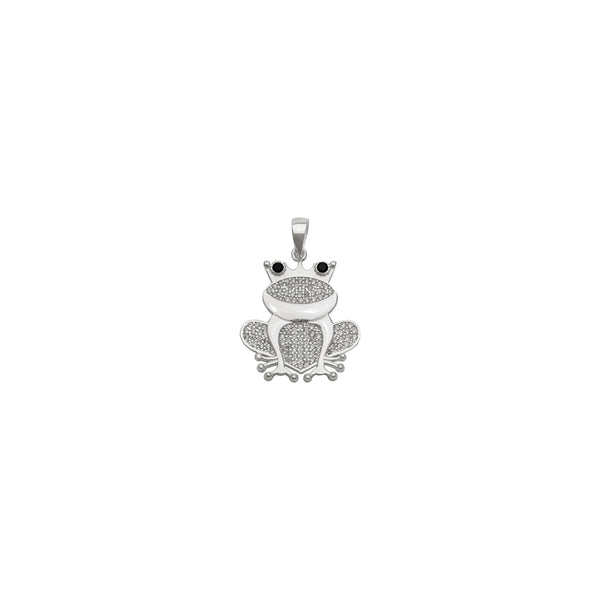 Icy Frog Pendant (Silver) front - Popular Jewelry - New York