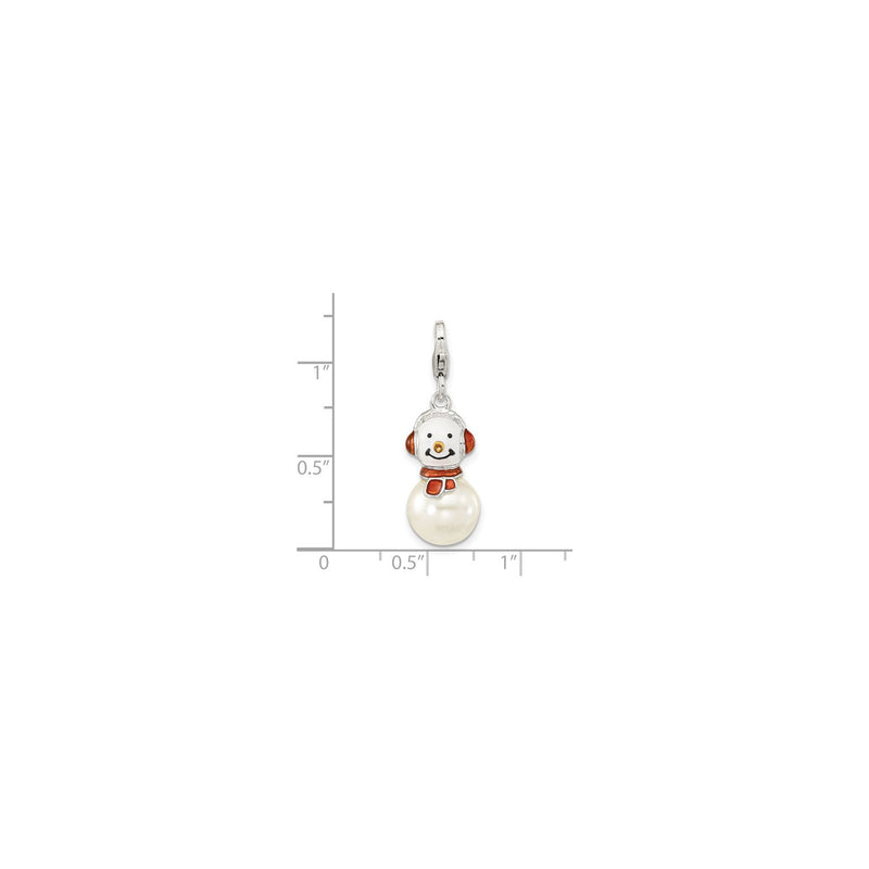 Pearly Snowman Charm (Silver) scale - Popular Jewelry - New York