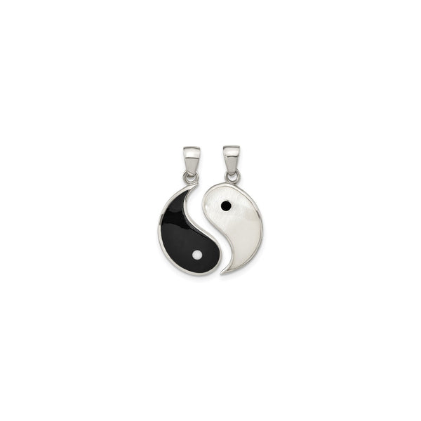 Yin Yang Two-Piece Pendant (Silver) front - Popular Jewelry - New York